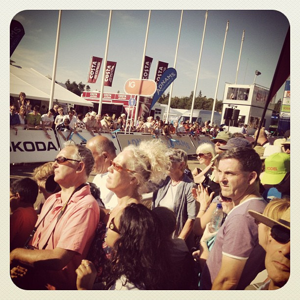 Photograph Big crowds at Norfolk Showground for the end of the 1st #tourofbritain #tob stage today. Nice the ch by Steve Butterworth on 500px
