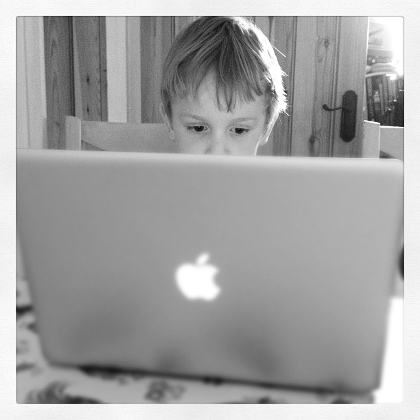 Photograph Geek Junior is already a bit of a whizz on the MacBook Pro. by Steve Butterworth on 500px
