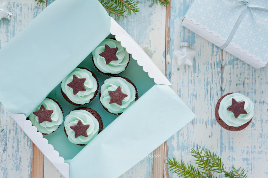 Photograph Christmas cupcakes by Galina Kochergina on 500px
