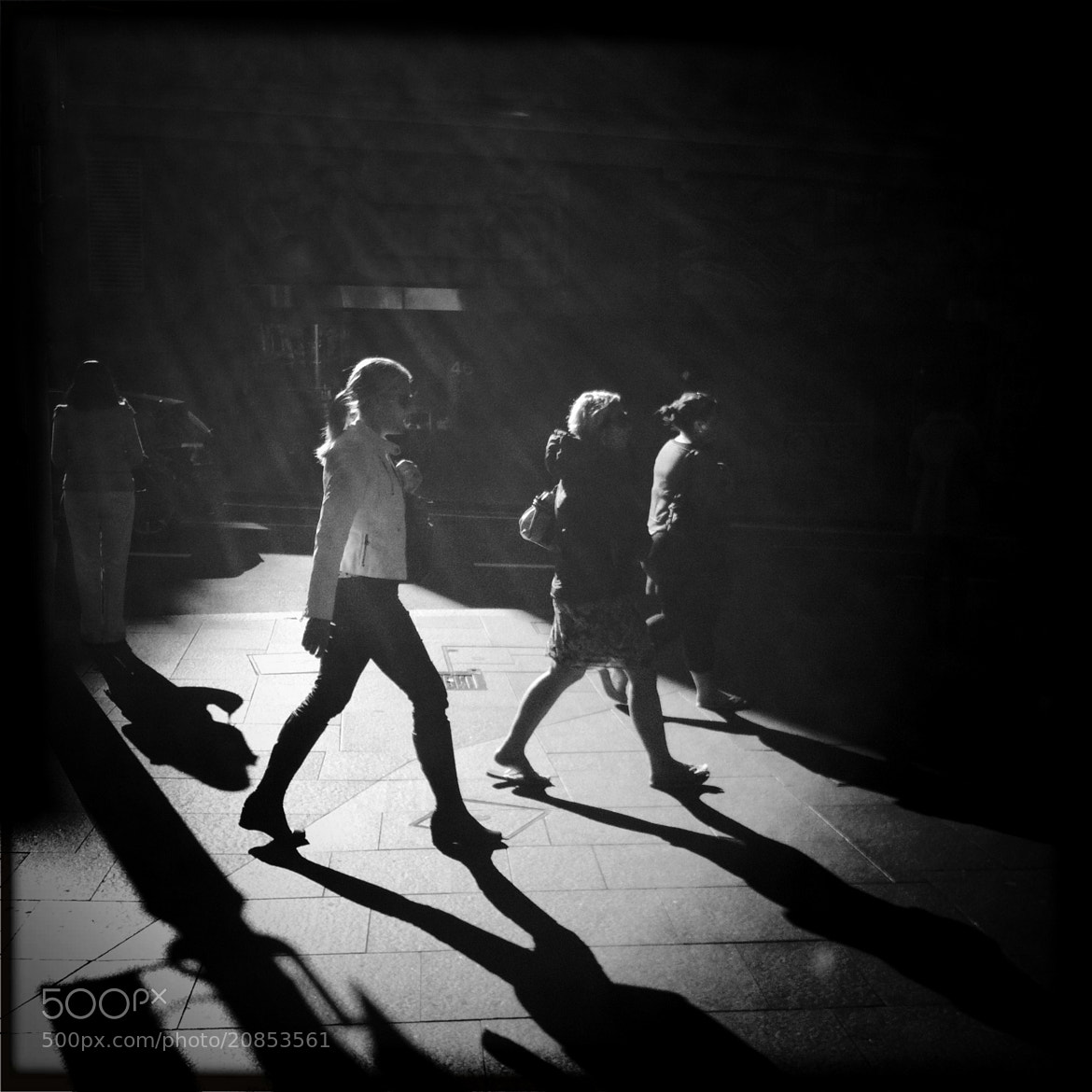 Photograph walking through a shower of light by Albion Harrison-Naish on 500px