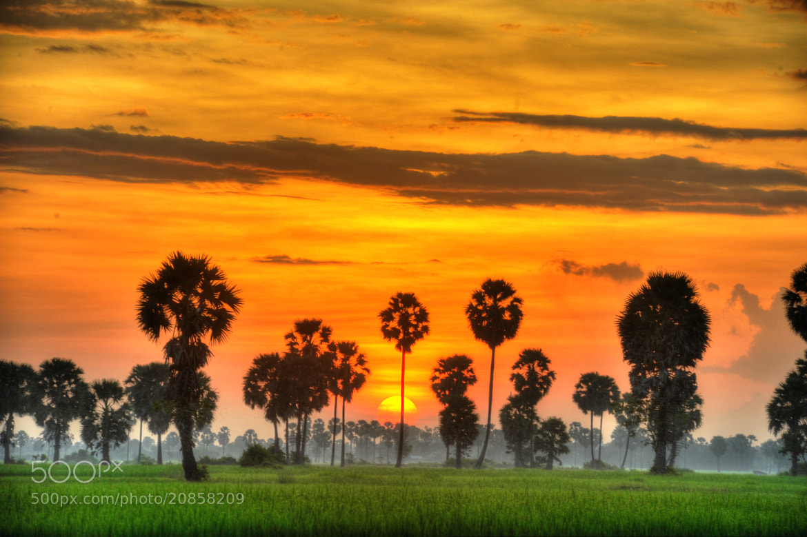 Photograph Sunrise @ Cambodia-HDR by Tommy Hsieh on 500px