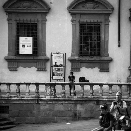 Tourists at Piazza Grande, Arezzo