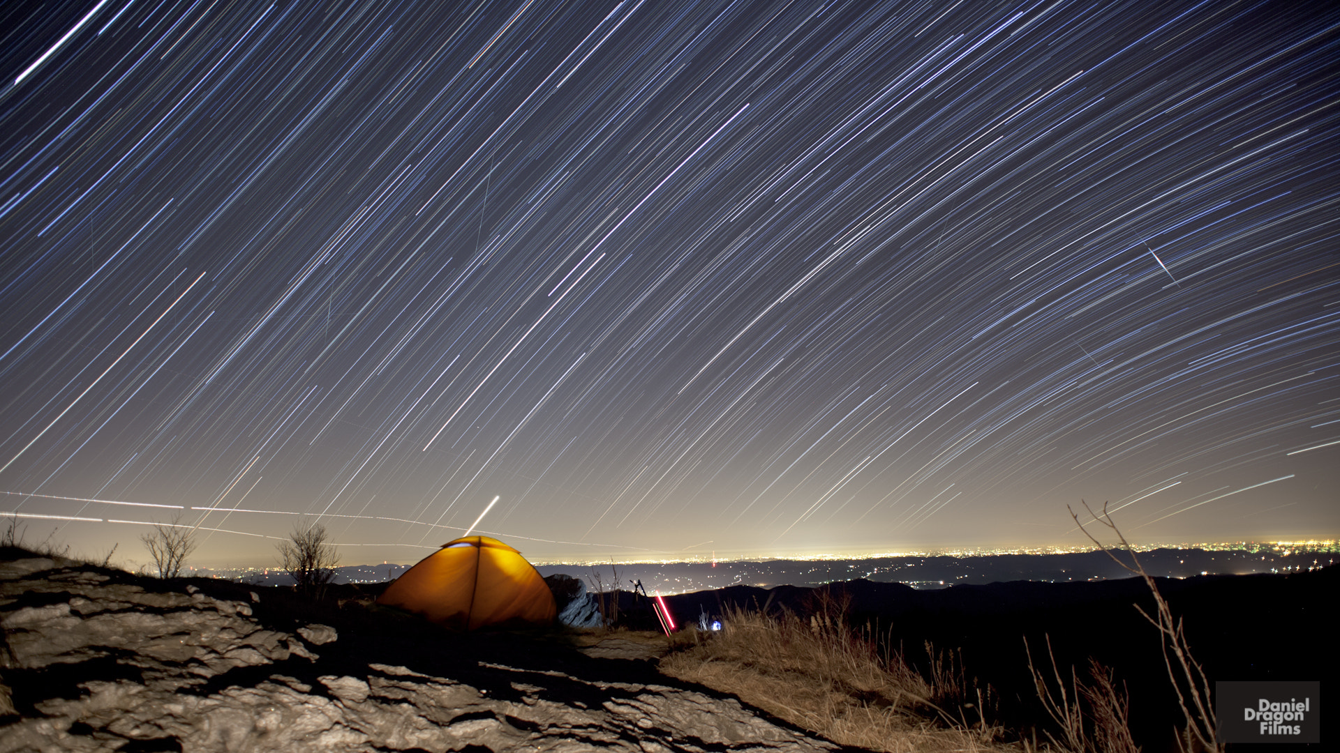Photograph Geminid Startrails from Blue Ridge Parkway by Daniel Lowe on 500px