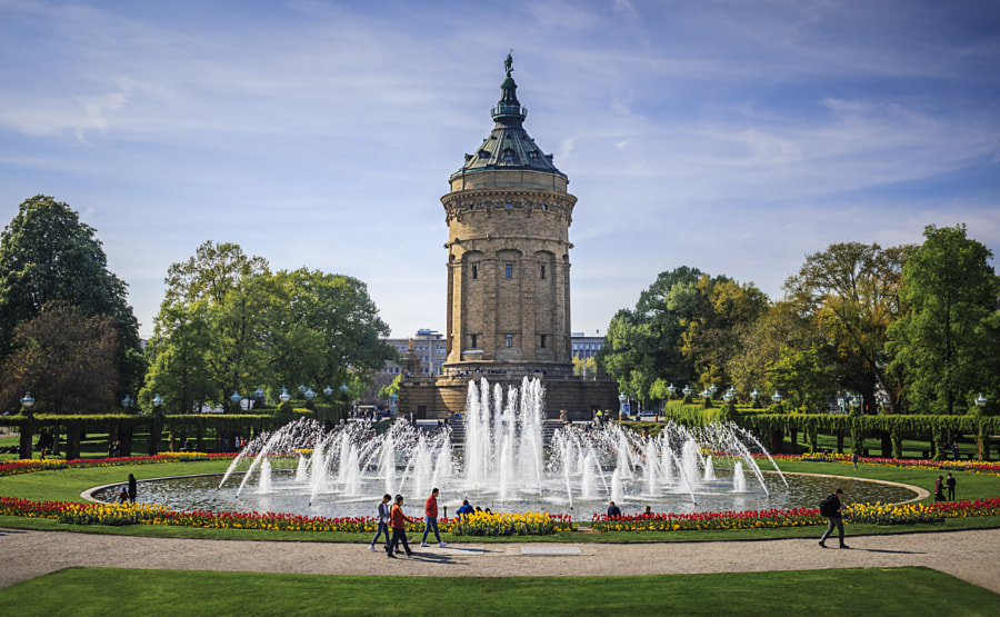 Wasserturm, Mannheim, Germany by Son of the Morning Light on 500px.com