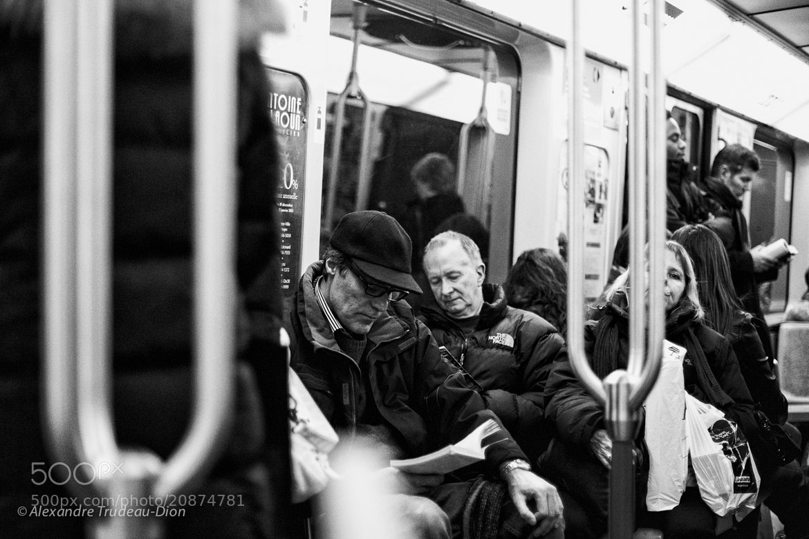 Photograph Subway reading by Alexandre Trudeau-Dion on 500px