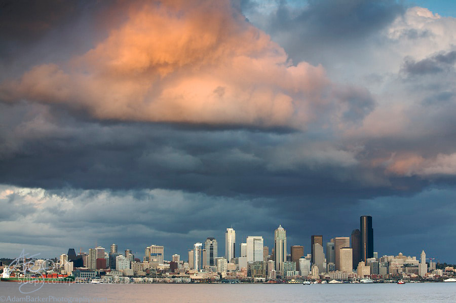 Photograph Stormy Seattle by Adam Barker/AdamBarkerPhotography.com on 500px