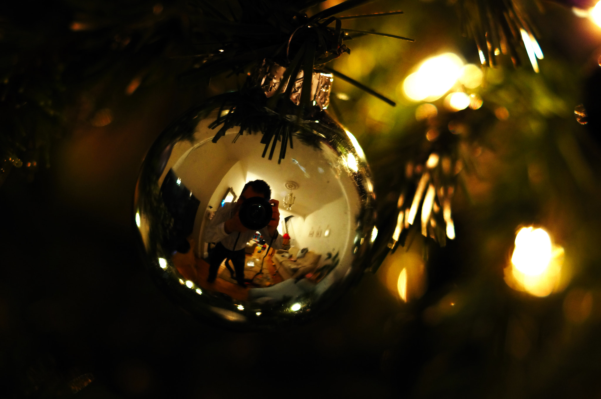 Photograph Christmas bauble :) by dave o on 500px