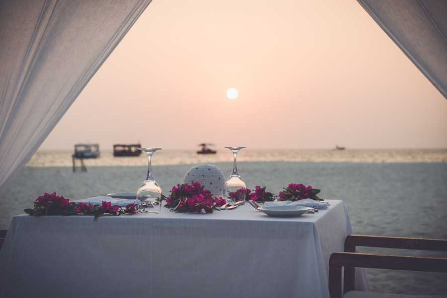 romantic beach dinner by Michael Rosenwirth on 500px.com
