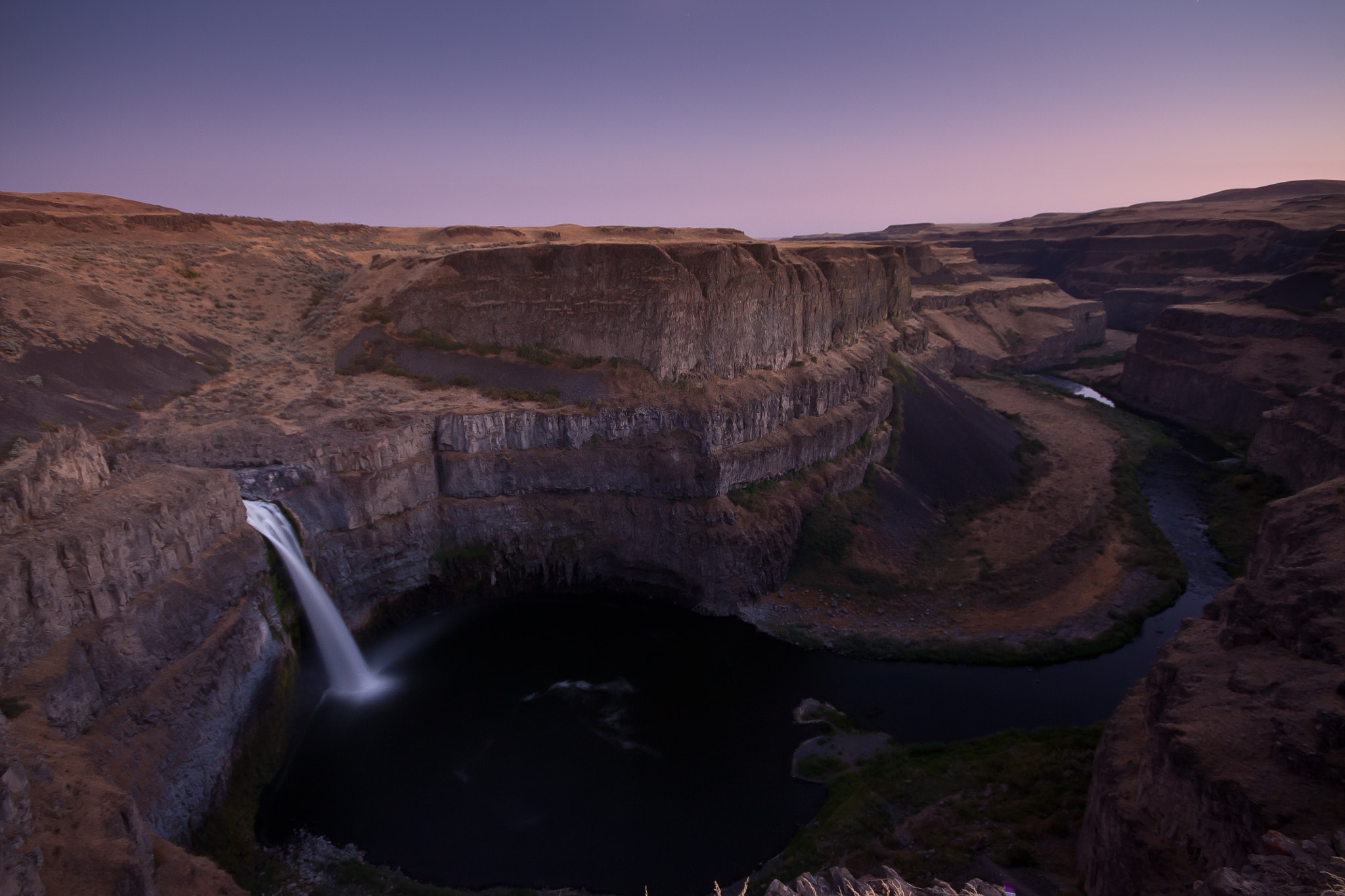 Photograph Palouse falls moonrise by bsatya on 500px