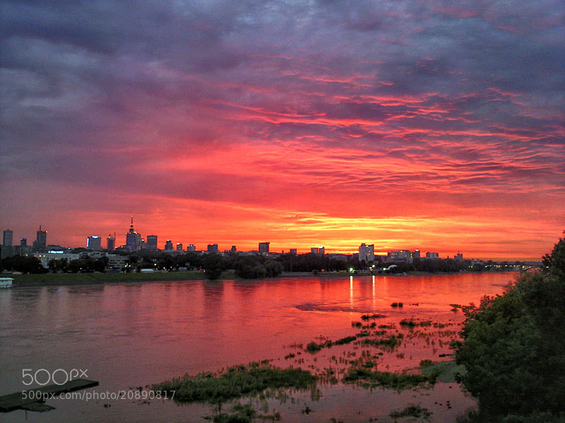 Photograph Warsaw sunset by Greg Wozniak on 500px