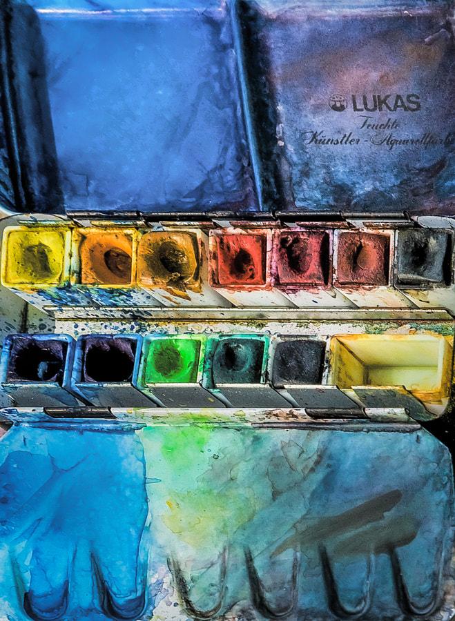 Artist paints