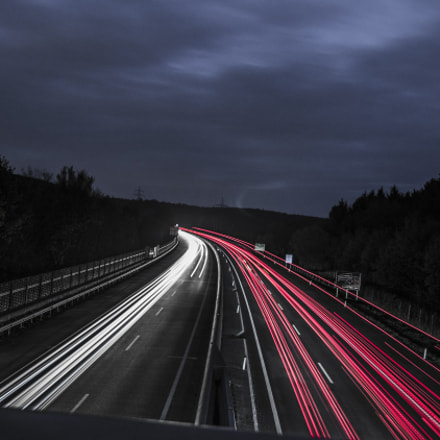 Lighttrails on a Highway, Canon EOS 80D, Sigma 10-20mm f/3.5 EX DC HSM