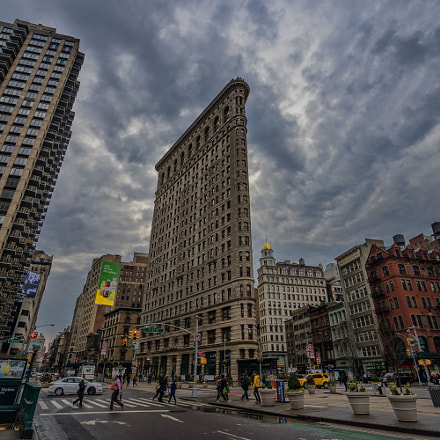 The Flatiron Building, Sony ILCE-7M2, Sony FE 16-35mm F4 ZA OSS