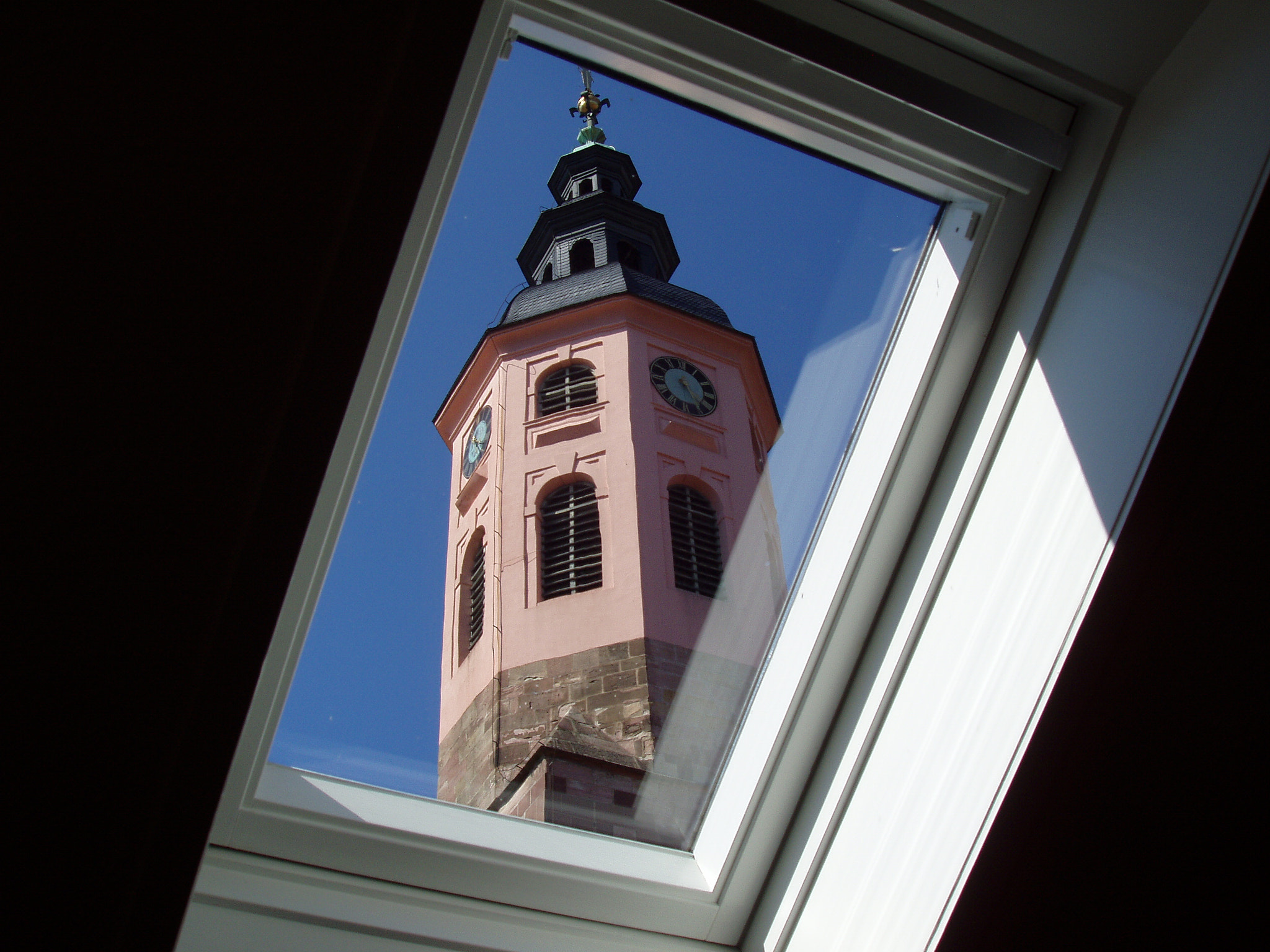 Photograph Stiftskirche Bell Tower Through Skylight by Michael Card on 500px