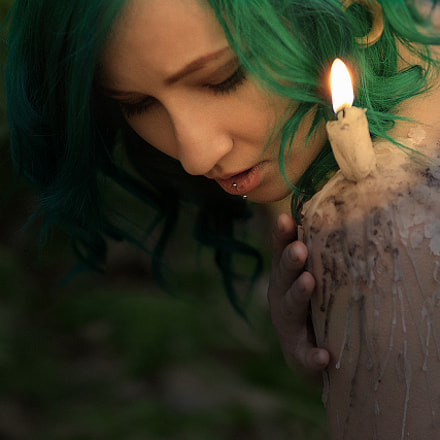 Candle, Canon EOS 7D MARK II, Canon EF 100mm f/2 USM
