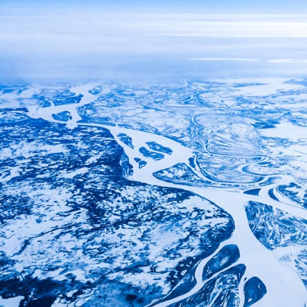 Siberia from above, frozen, Apple iPhone 6, iPhone 6 back camera 4.15mm f/2.2