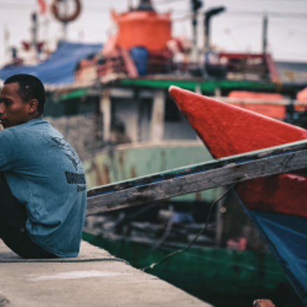 A Fisherman And His, Fujifilm X-T10, XF50-140mmF2.8 R LM OIS WR
