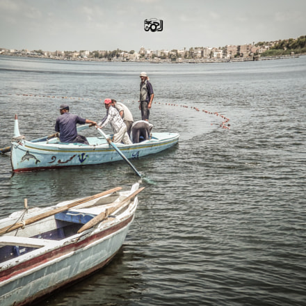 Fishermen in Rashid City, Fujifilm FinePix S3200
