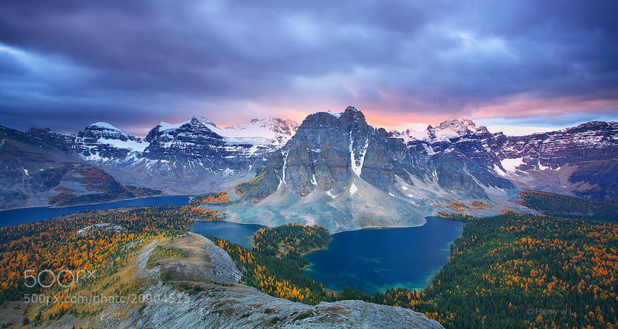 Photograph Sunset at Mt Assiniboine by Henry Liu on 500px
