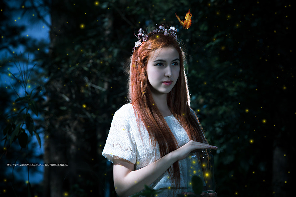 Photograph woman with butterfly by ChaoPavit123Smiles on 500px