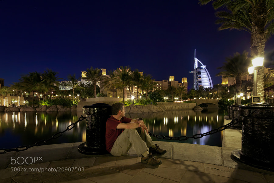 Burj Al Arab from Souk Madinat Jumeirah, Dubai, United Arab Emirates