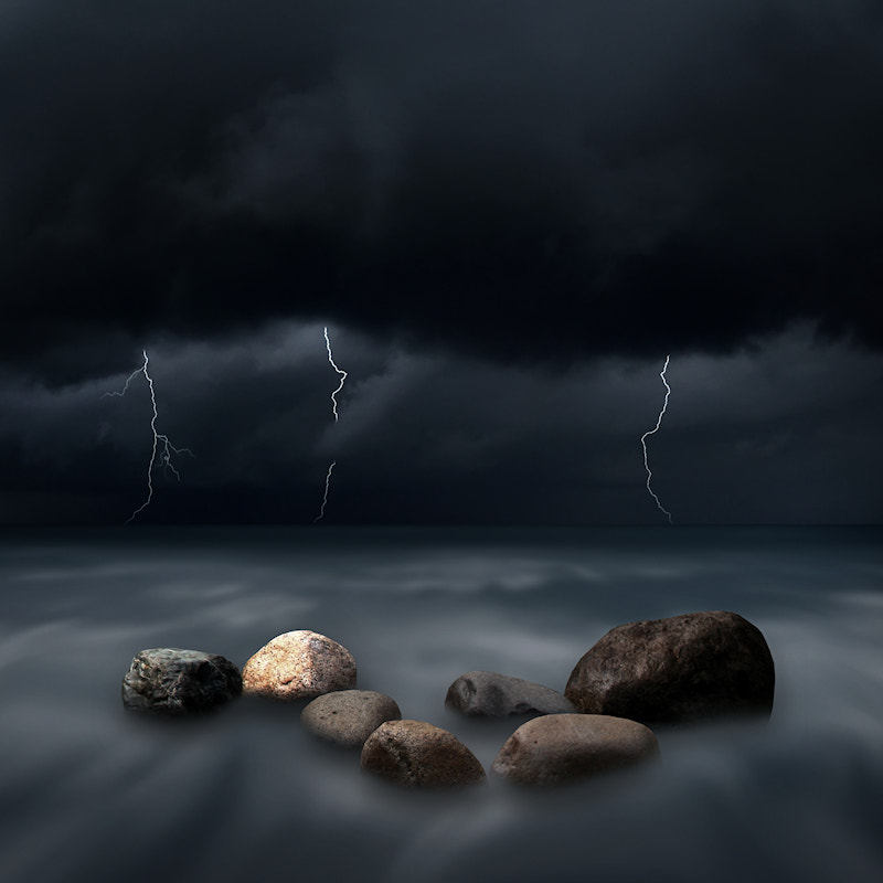 Photograph Seven Stones in the Storm by Carlos Gotay on 500px
