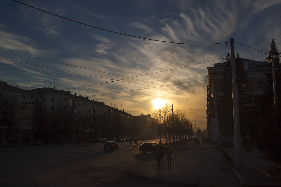 Kemerovo - Sunset on the Soviet Avenu - 2017.04.22