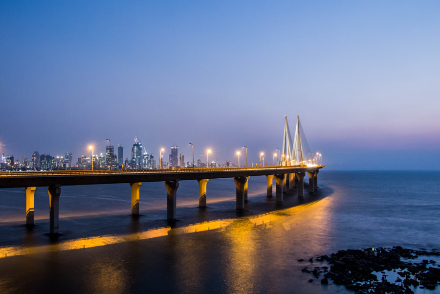 Bandra–Worli Sea Link by MADHURYA SARKAR on 500px.com