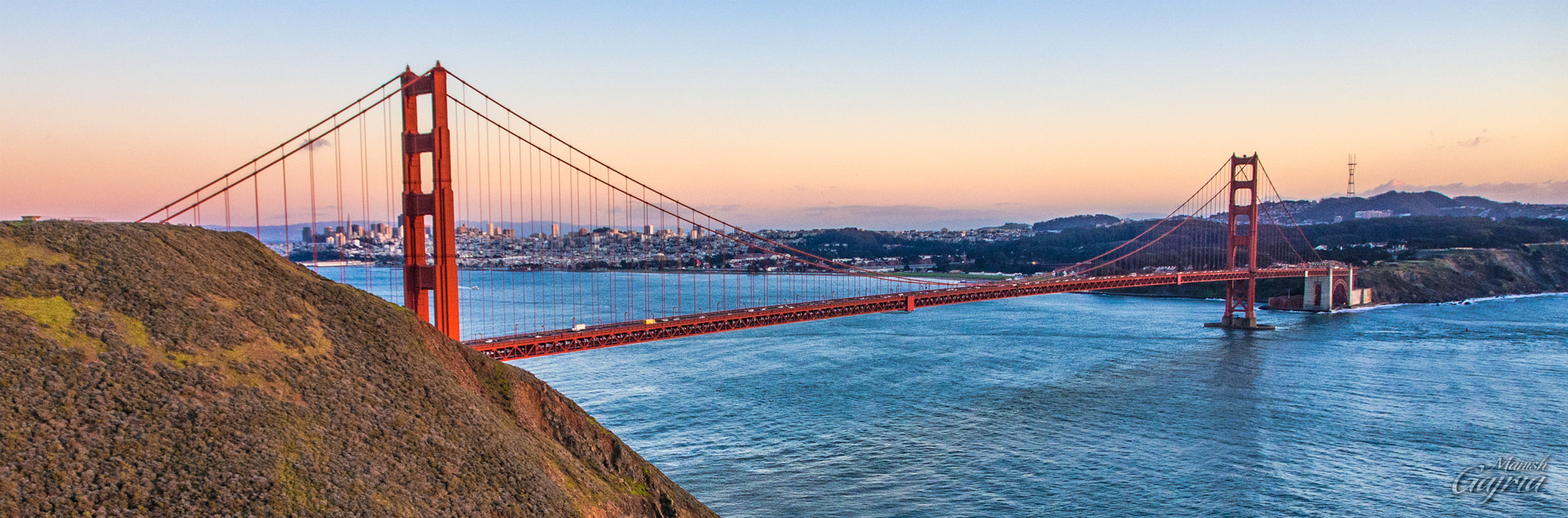 Photograph Golden Gate at the Golden Hour by Manish Gajria on 500px