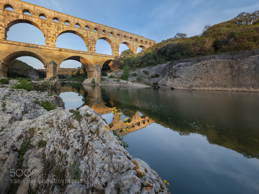 Pont du Gard in morning light