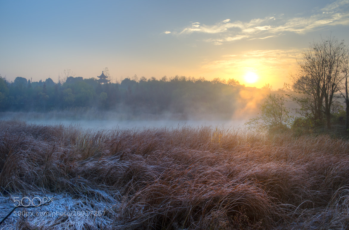 Photograph Sunrise over the yanque lake by Soleil Neon on 500px