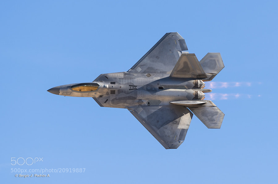 Lockheed Martin F-22 Raptor, taken at Aviation Nation 2012, Nellis AFB, Nevada