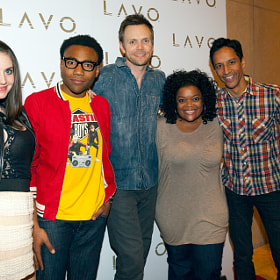 "Cast of NBC show ""Community"" @ Lavo Las Vegas NV"