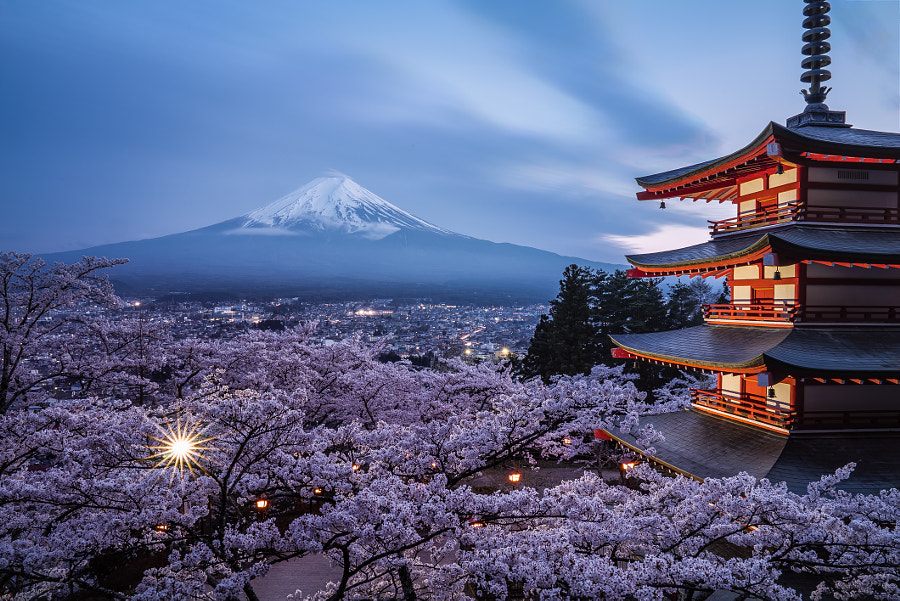 Mount Fuji - Blue hour by JK Kim on 500px.com