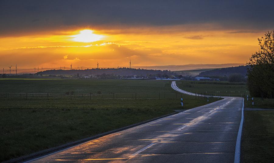 Sunset Over the Hunsrück by Son of the Morning Light on 500px.com