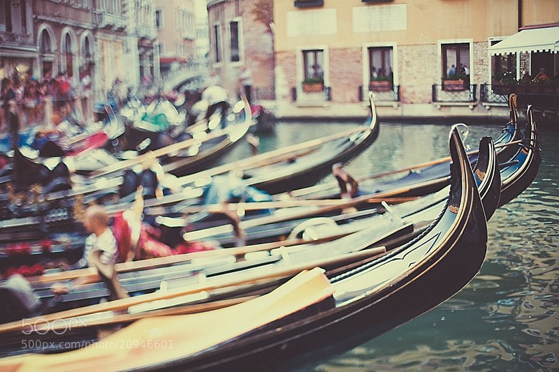 Photograph tilt-shift loves Venice! by Vika Solov`eva on 500px