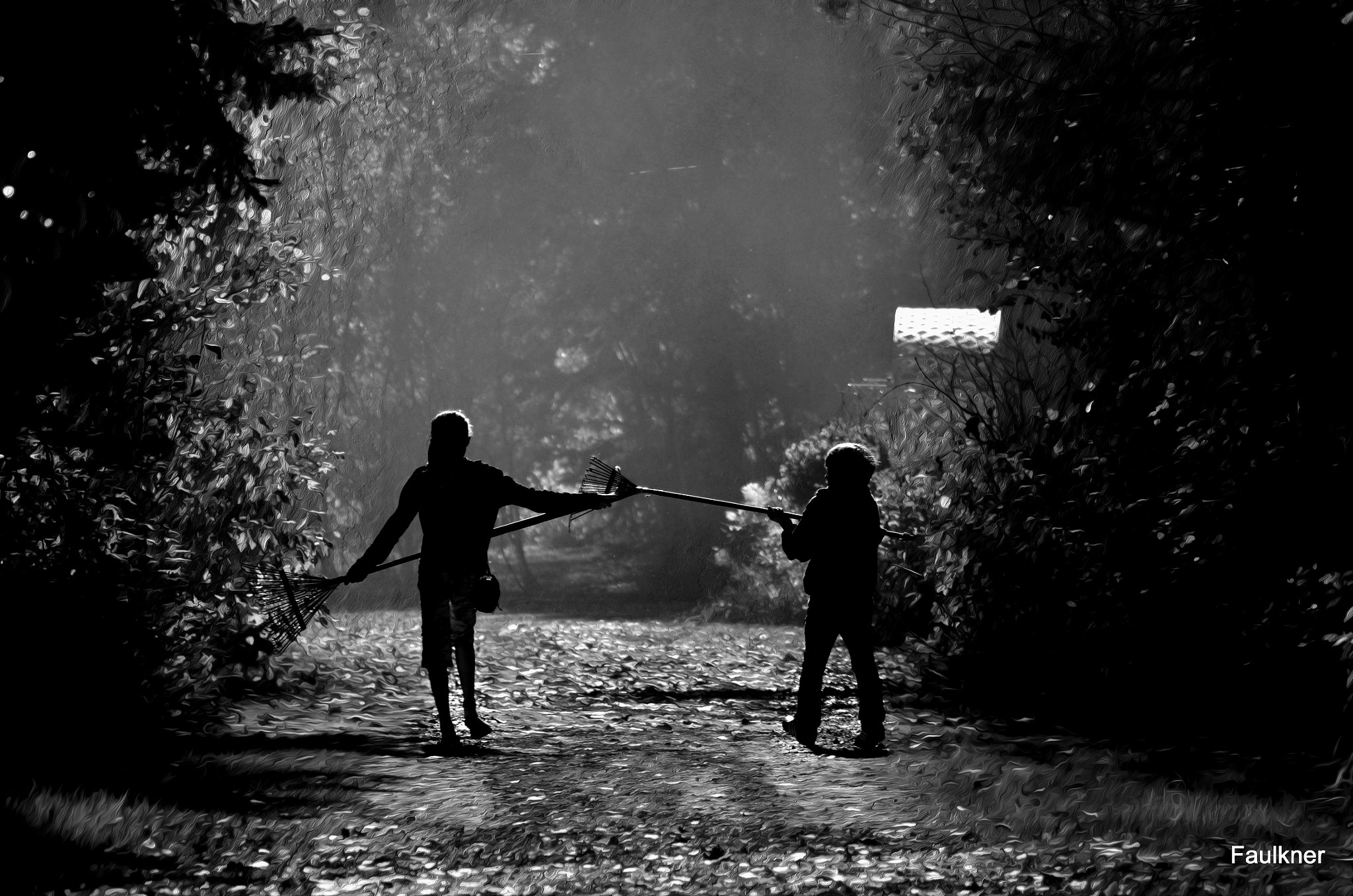 Photograph Kids with rakes by Reg Faulkner on 500px