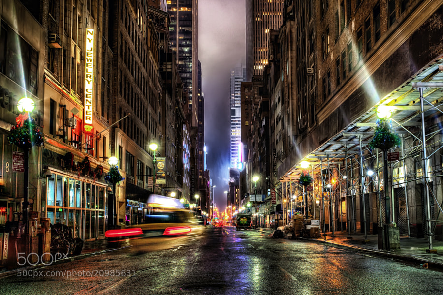 MIdnight on 47th street by Marc Perrella (marcperrella)) on 500px.com