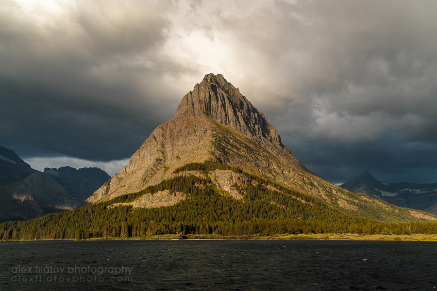 Photograph Storm Light on Mount Grinnell by Alex Filatov | alexfilatovphoto.com on 500px