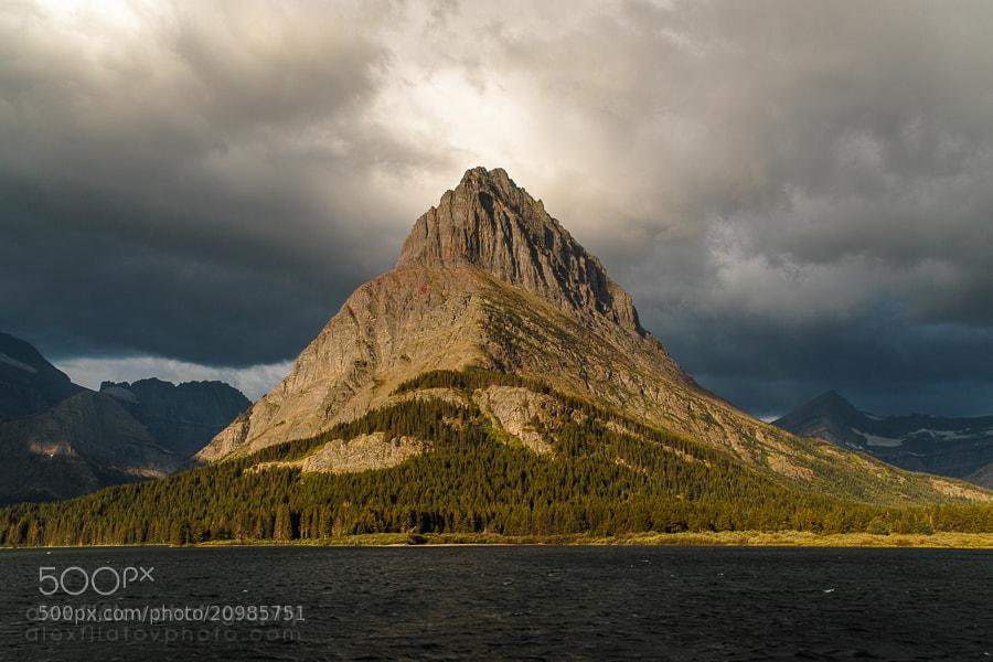 Photograph Storm Light on Mount Grinnell by Alex Filatov | alexfilatovphoto.com on 500px
