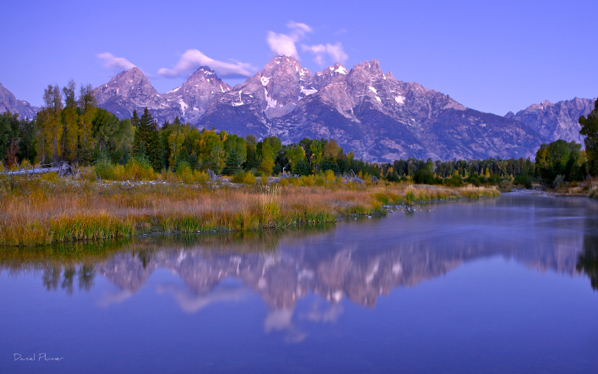 Photograph Moonlit Tetons by Daniel Plumer on 500px