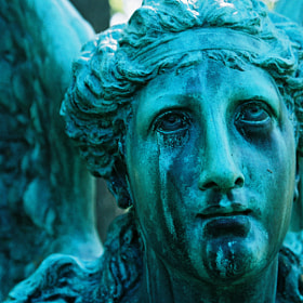 Angel Statue at Spring Grove Cemetery in Cincinnati, Ohio.  Some people say the statue is crying.