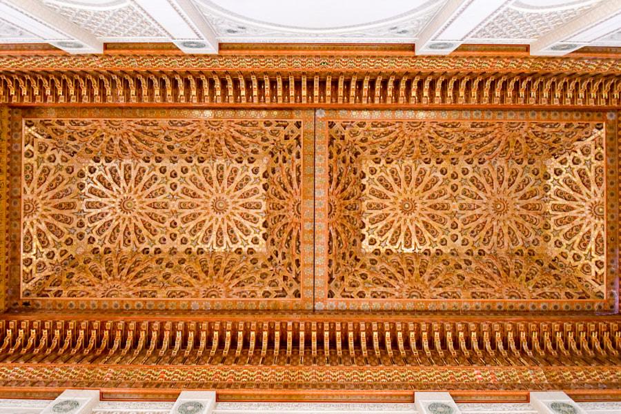 Ceiling in Hassan II mosque