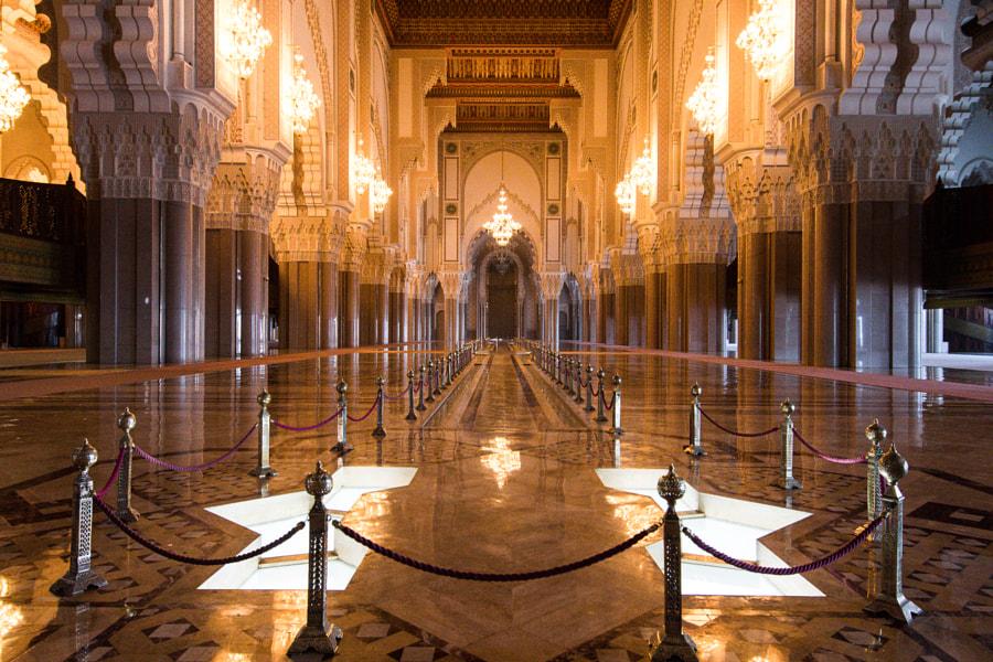 Hassan II mosque inside