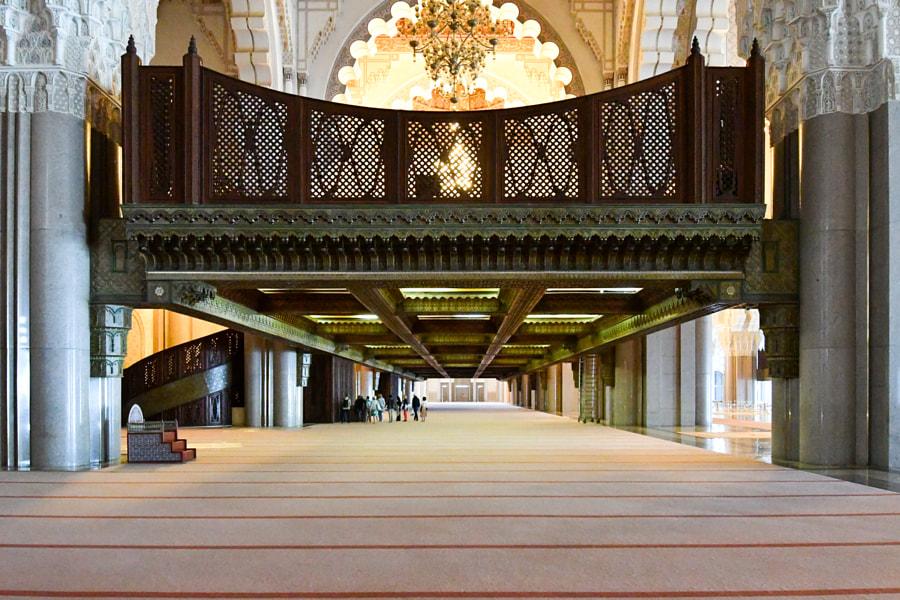Ladies area Hassan II mosque