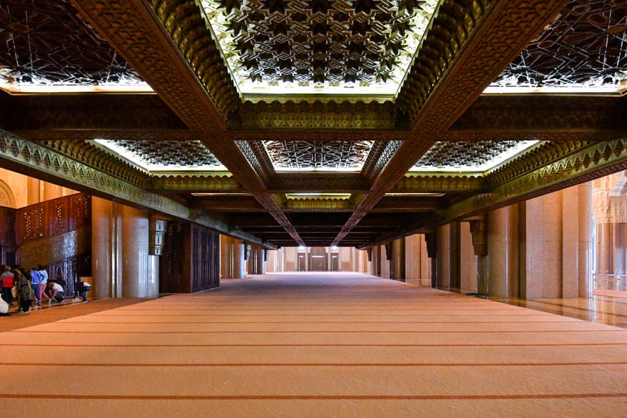 Under ladies area - Hassan II mosque