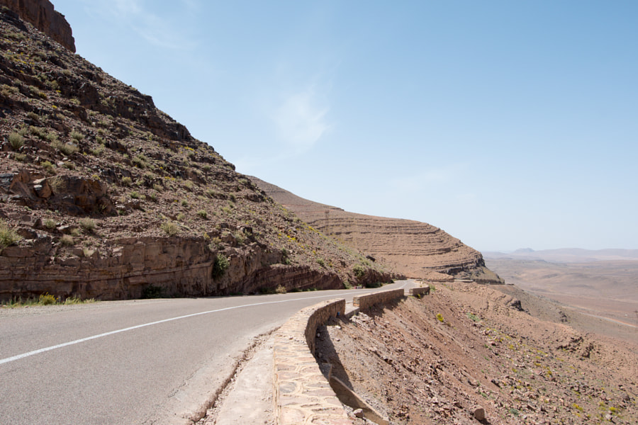 Driving from Ouarzazate to Merzuga