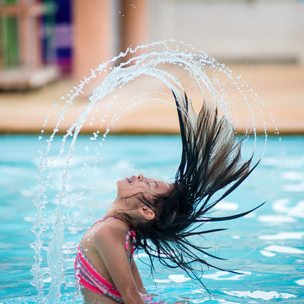 the girl in swimming pool