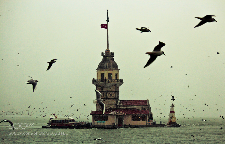 Photograph Snowy İstanbul and Maiden tower by Cengiz Karacik on 500px