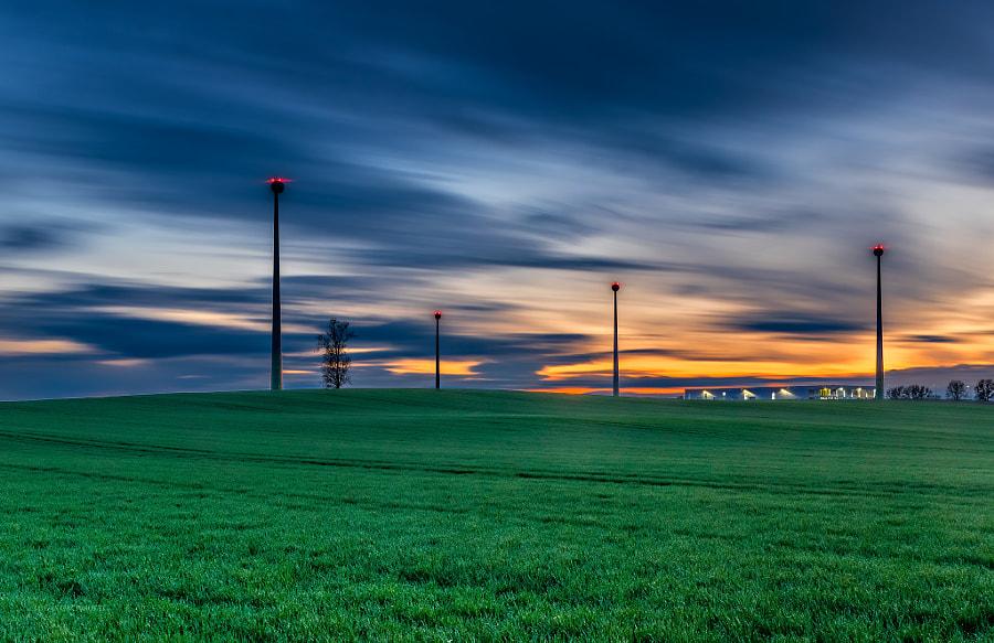 Windfarm in the fields